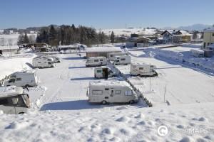 Winterwanderung mit dem Wohnmobil