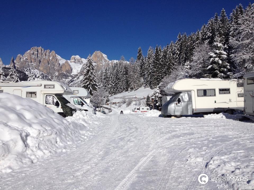 où stationner l'hiver en camping-car