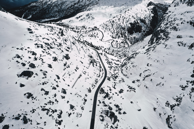skiing in motorhome