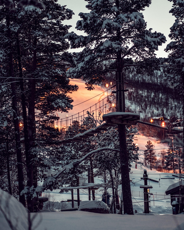 esquiar en una caravana