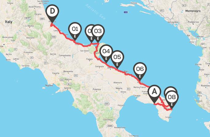 itinerario italia